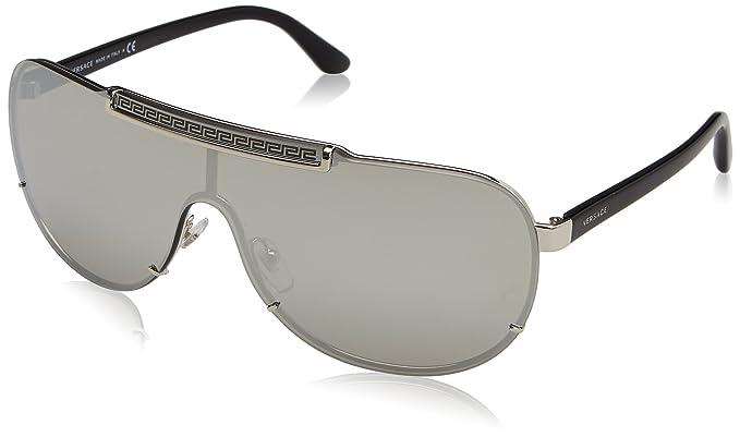 Versace 0Ve2140 Gafas de sol, Silver, 61 para Hombre: Amazon ...