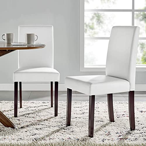 Modway Prosper Faux Leather Dining Side Chair Set of 2
