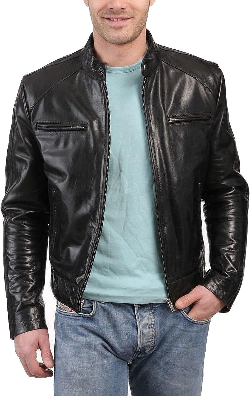 1501227 Laverapelle Mens Genuine Lambskin Leather Jacket Black, Classic Jacket