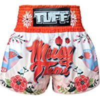 Tuff Boxing Muay Thai Shorts Trunks, Unisex-Adult, TUF-MS633-ORG, Large