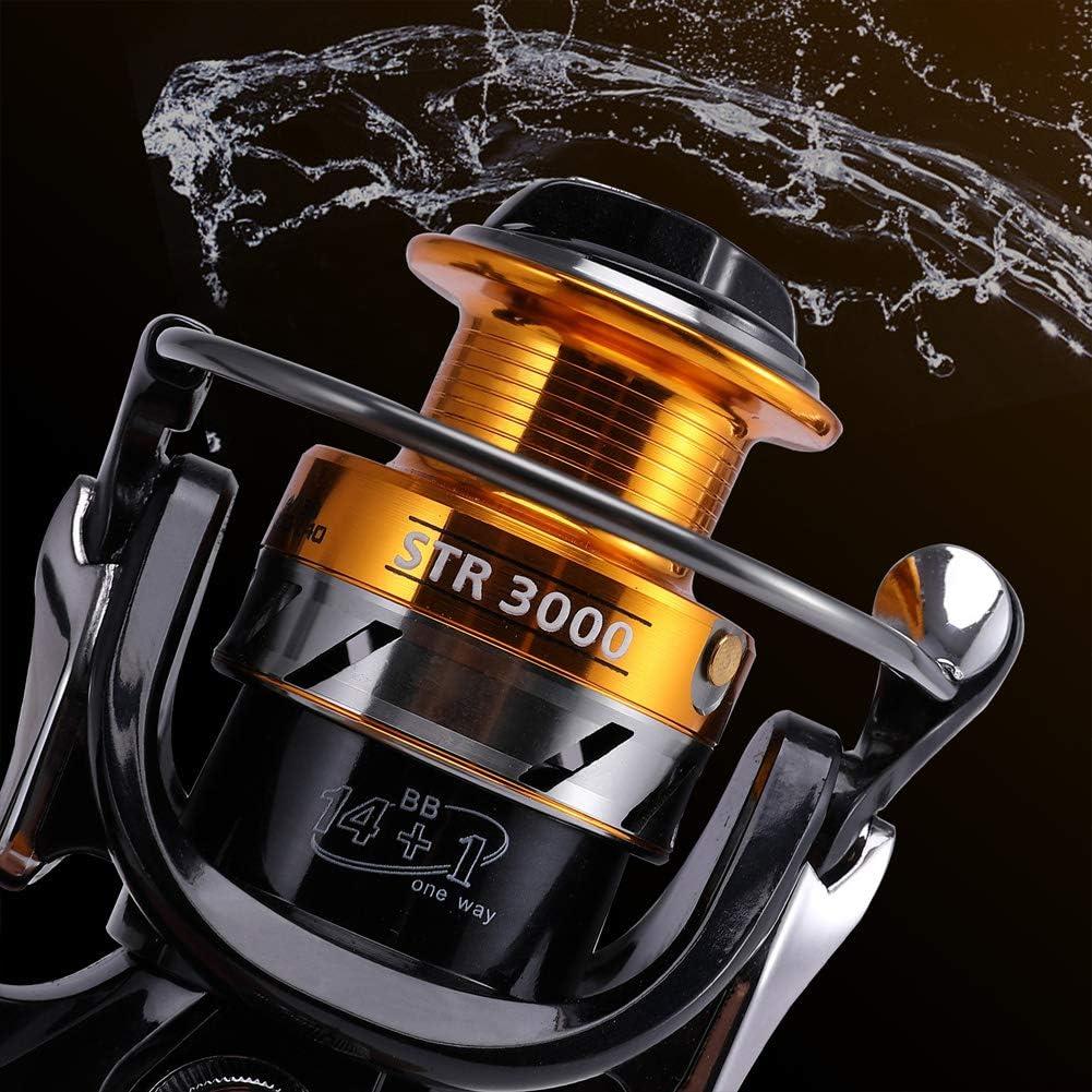 Spinning Fishing Reel For Sea And Freshwater Carp 14+1 Ball Bearings Fishing Anti Corrosion Saltwater 4000 Mounchain Fishing Reel
