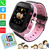 """Kids Smartwatch Phone - 1.4""""Reloj de Pantalla táctil para niños Reloj de Pulsera con Llamada SOS Chat de Voz Cámara Linterna Alarma Juegos de Aprendizaje Tchristmas Regalos para niños Niñas (Rosa)"""