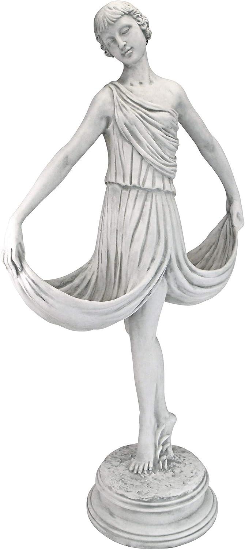 Design Toscano KY14157 Isadora The Garden Ballerina Statue, Antique Stone