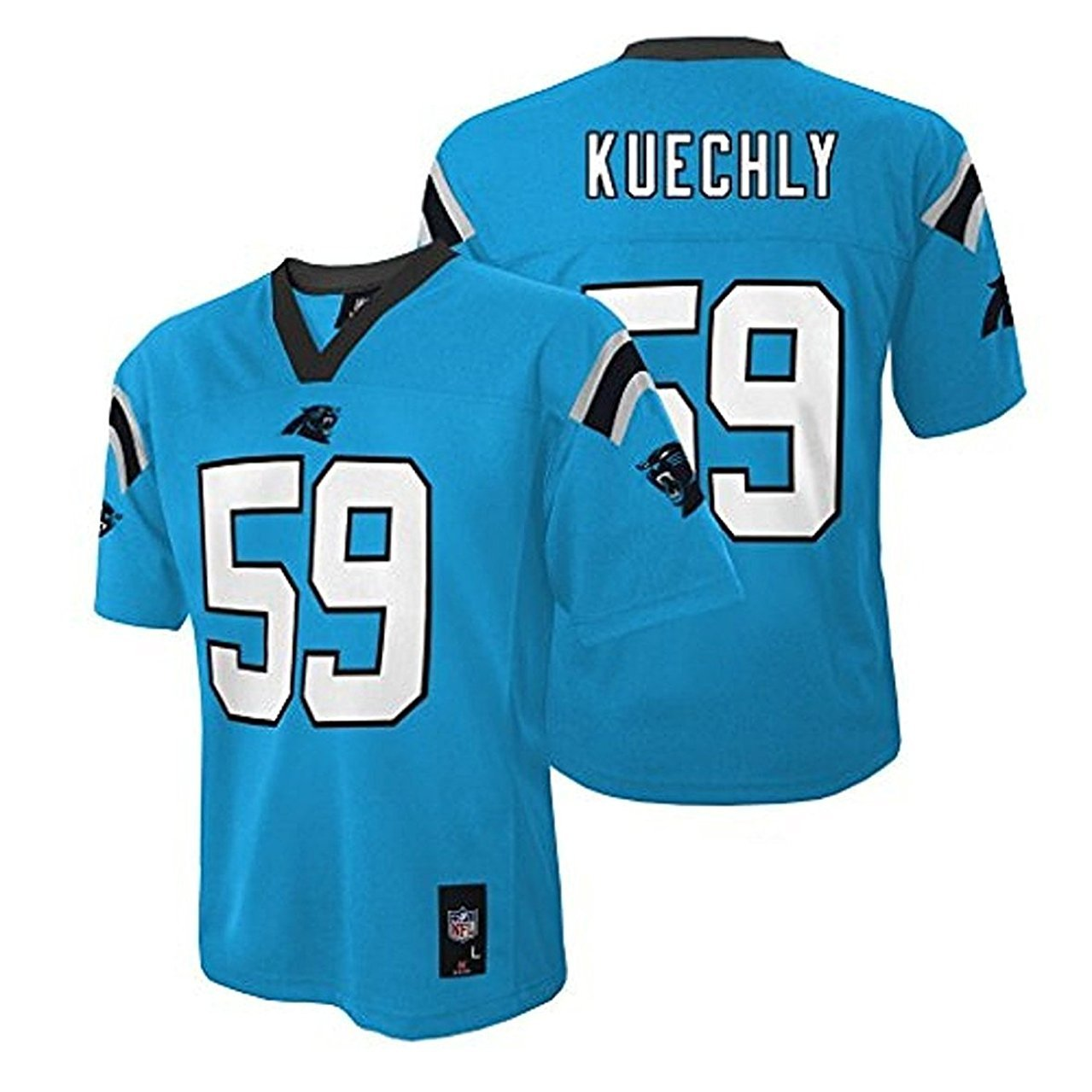 cheap for discount 3759b 4d930 Luke Kuechly Carolina Panthers #59 Blue Kids Mid Tier Alternate Jersey