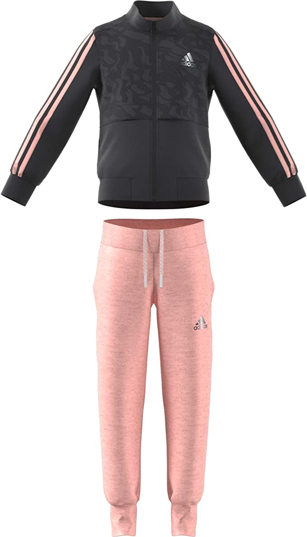 adidas Mädchen Lg Co Tracksuit CarbonHazcorRefsil Trainingsanzüge