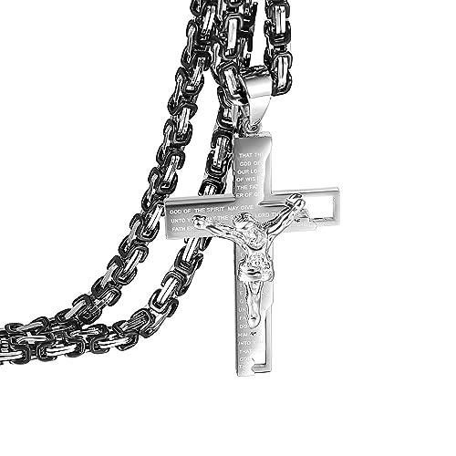 Amazon.com: Oidea - Collar clásico de acero inoxidable para ...