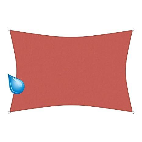 sunprotect 83258 Waterproof Toldo / Vela de Sombra, 3.5 x 4.5 m, rectangular,