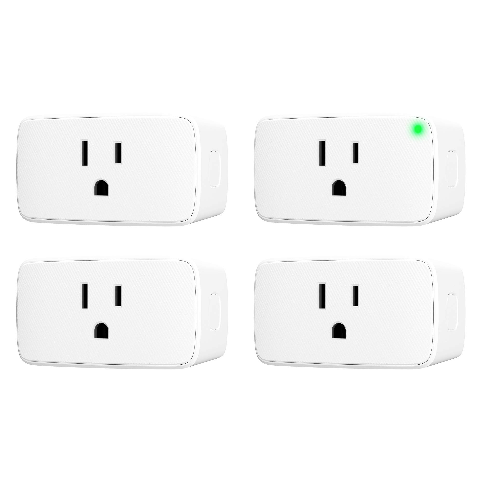 VOCOlinc Smart Plug, Wi-Fi Mini Outlet Socket, Works with HomeKit (iOS12 or +), Alexa & Google Assistant, Timer, No Hub Required, 15A 1800W, 2.4GHz, Smartbar (4 Pack)