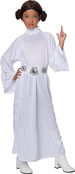 Amazon.com: Disfraz de lujo de princesa Leia de Star Wars de ...