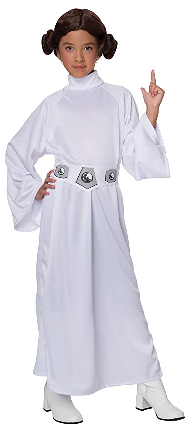 Amazon.com: Star Wars Child\'s Deluxe Princess Leia Costume, Small ...