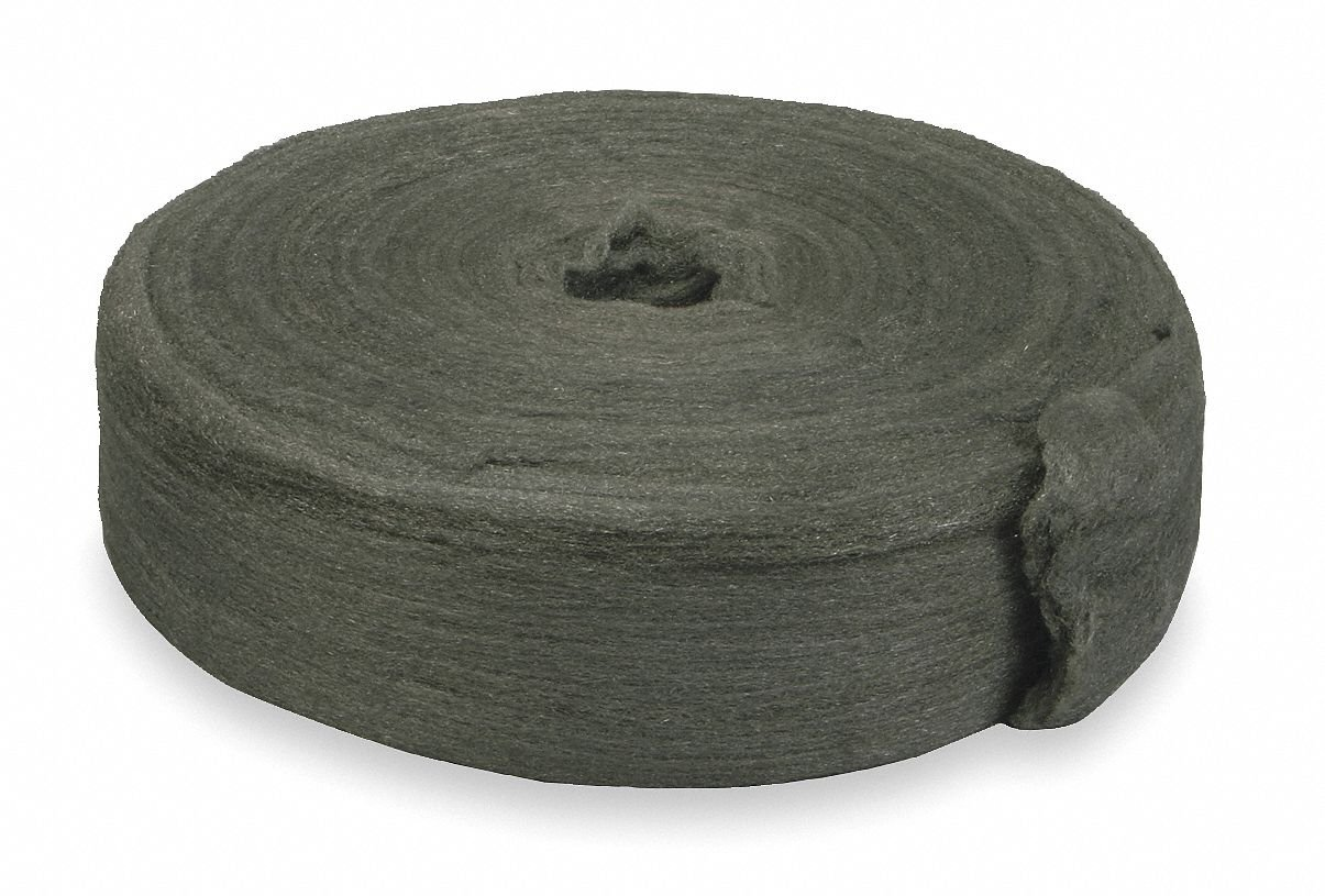 Carbon Steel Wool Reel, 000 Grit, 1 EA