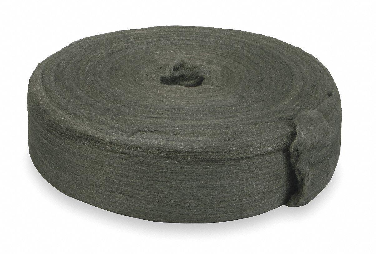 Carbon Steel Wool Reel, 000 Grit, 1 EA by GRAINGER APPROVED