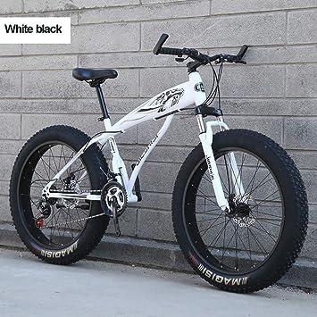 MRXW Bicicleta de montaña de 26 Pulgadas para los niños, niñas, Adultos 27 Velocidad Fat Tire