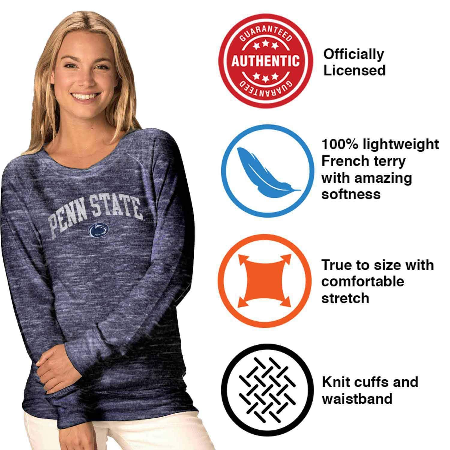 Camp David Penn State Nittany Lions Womens Ultimate Lightweight Carefree Crewneck Navy