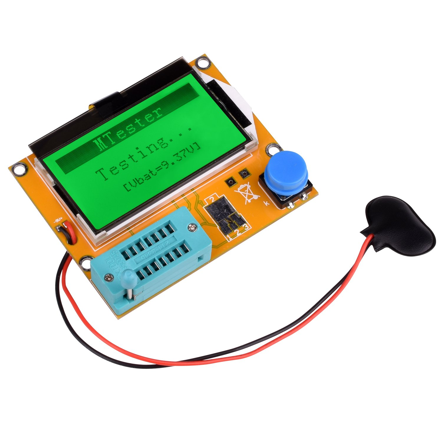 Multifunction Meter DIY kit, kuman Mega 328 Graphic transistor Tester, NPN PNP Diodes Triode Capacitor ESR SCR MOSFET Resistor Inductance LCD Display Checker with case and screwdriver K77 by Kuman (Image #4)