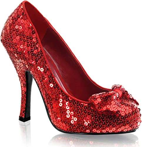 Ruby Red Sequin Dorothy Womens Shoes