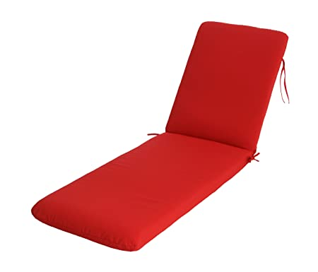 Phat Tommy Sunbrella Outdoor Chaise Lounge Cushion Patio Furniture Replacement Cover-Clearance, Jockey Red