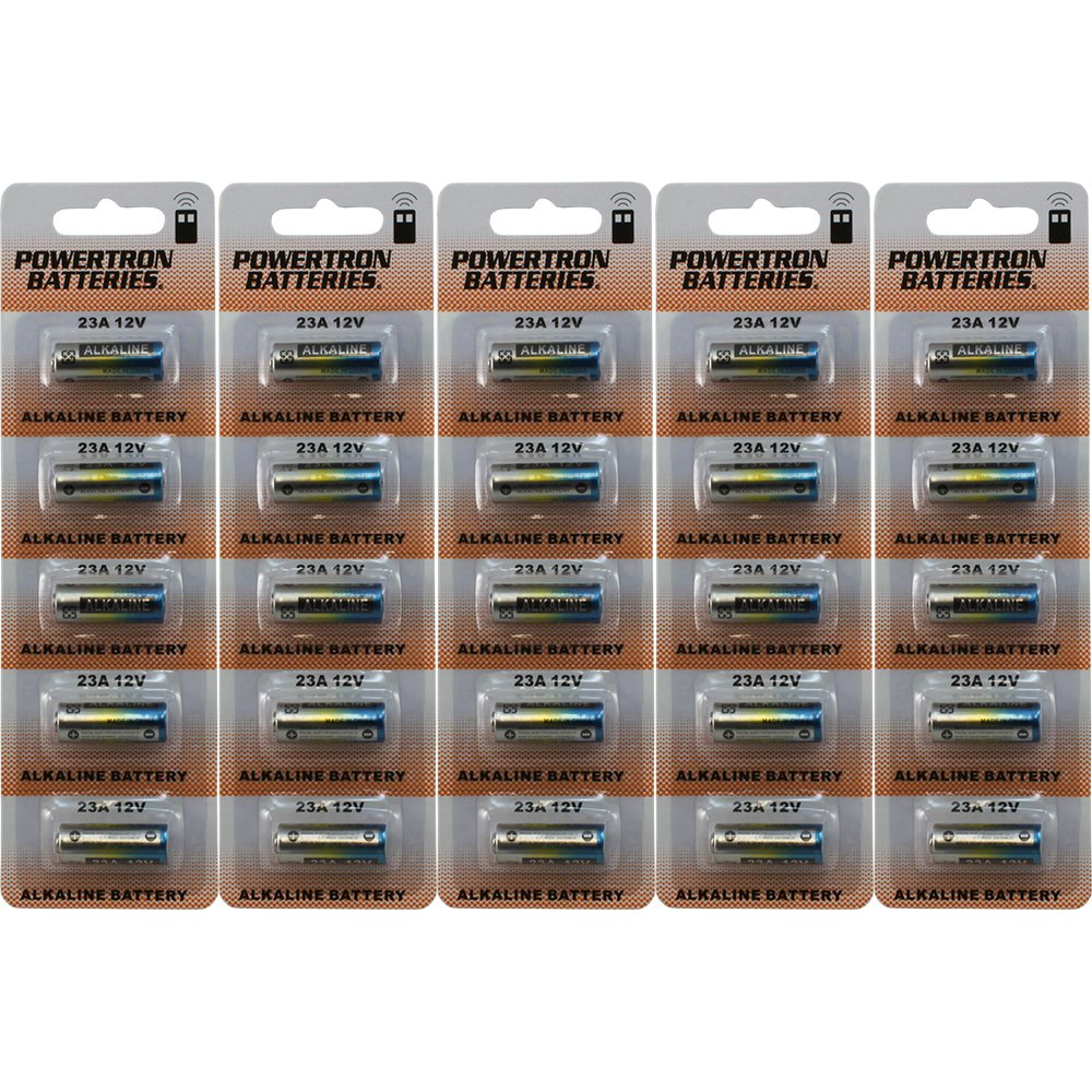 Powertron 23A 12V Alkaline Battery (25 Pack)