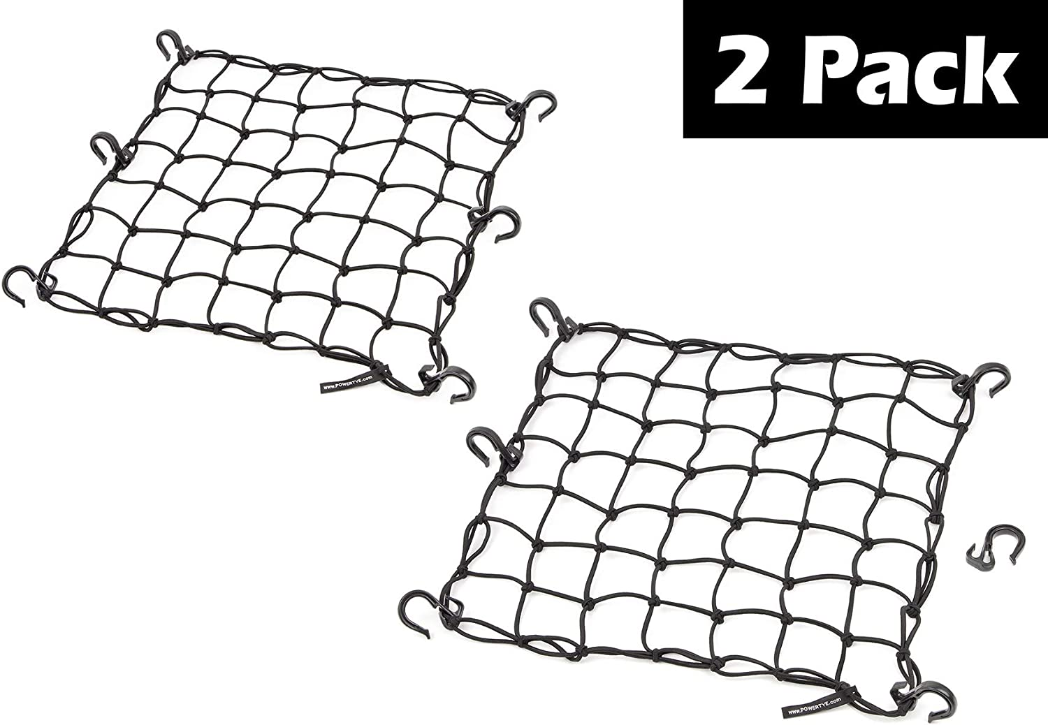 PowerTye Black Mesh Cargo Net (2 Pack)