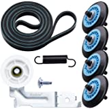 Upgraded Dryer Repair Kit Compatible with Samsung Drum Roller DC97-16782A,Dryer Belt 6602-001655, Idler Pulley DC93-00634A, R