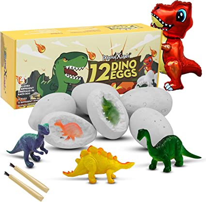 Dinosaur Egg Digging Kit Easter Archeology Science Educational Toy Suitable for Gifts and Toys for Boys and Girls Over 3 4 5 6 7 Years Old 12 Different Dinosaur Fossil Dinosaur Eggs