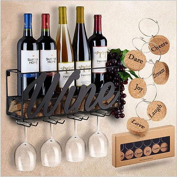 LYN-UP Botelleros, Racks de Vino de Pared |Botellas Y Estantes De ...