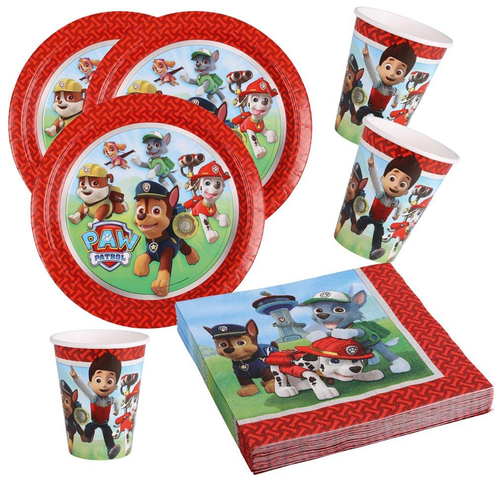 36-teiliges Ensemble de fête patte Patrol - assiette gobelet serviettes pour 8 enfants