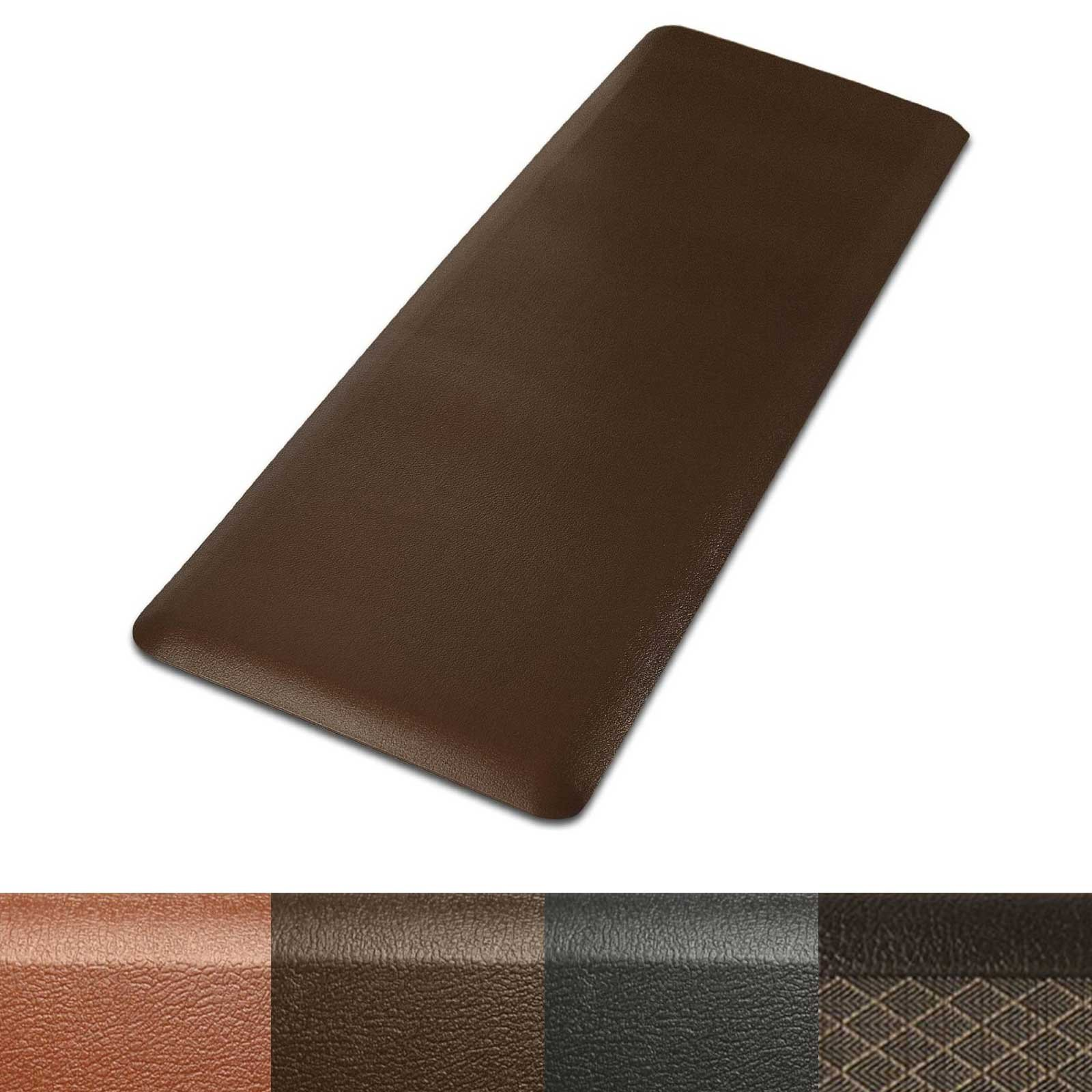 Kitchen Mat | Anti Fatigue Mat, 3/4 Thick | Ergonomically Engineered, Non-Slip, Waterproof | 20''x72'' - Brown by casa pura