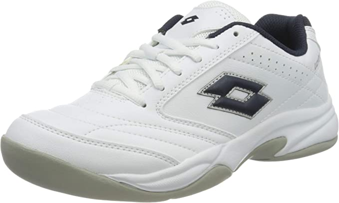 Lotto Court Logo VIII SI Indoor Men HW13 Gr. 40,5 Zapatillas de Tenis, Hombre, Blanco White D Core Blue 001, 40.5: Amazon.es: Deportes y aire libre