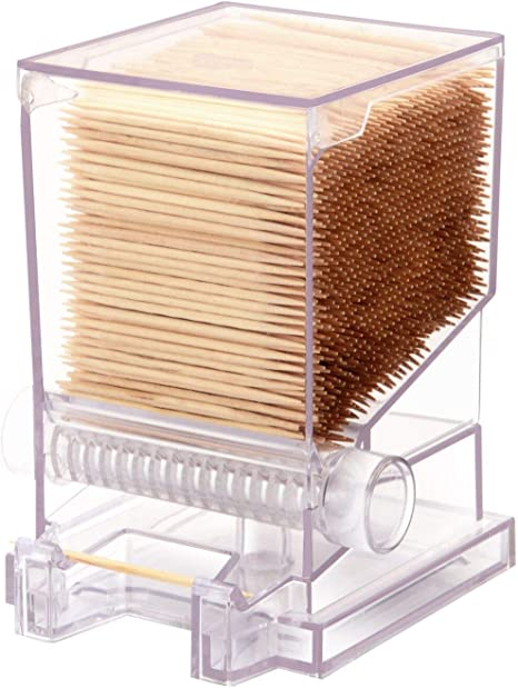 Serve Clean Toothpick Dispenser Clear Restaurant Style Includes 100 Toothpicks Kitchen Dining
