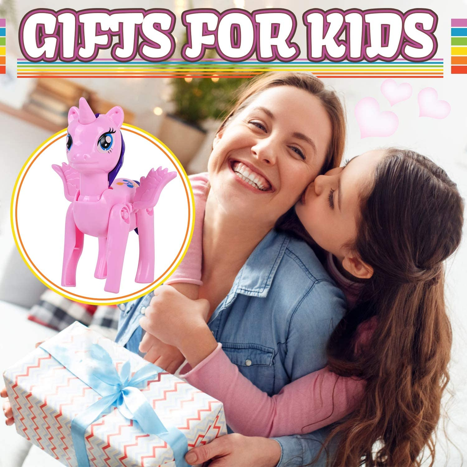 VAPCUFF Gifts for Girls Age 3 4 5 6 7 8, 4 Pack Easter Eggs Unicorn Toys Easter Baskets for Kids Toys for 2-7 Year Old Girl Birthday Christmas Easter Gifts for Kids Stocking Stuffers - Best Gifts