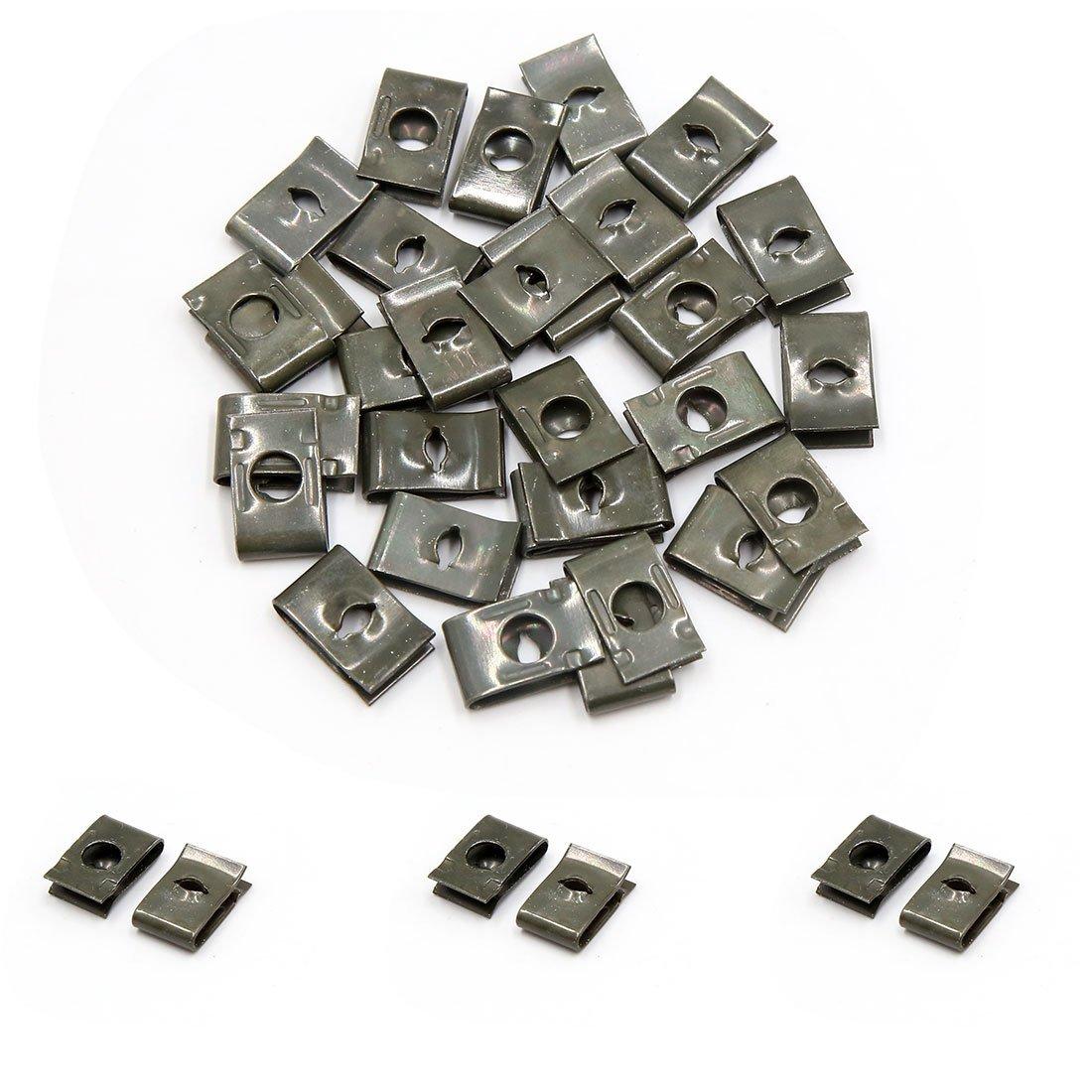 sourcingmap/® 30 pezzi velocit/à U fissaggio dadi interni pannello rivestimento vite autofilettante guglia fermi