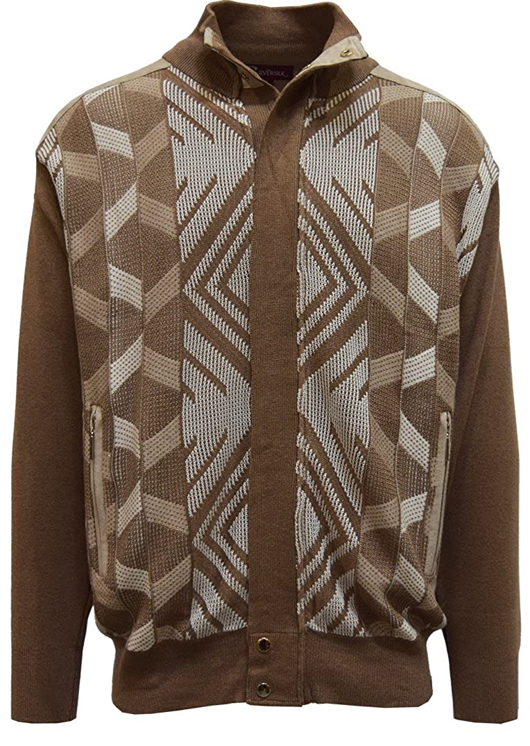 60s 70s Men's Jackets & Sweaters SILVERSILK Mens Sweater Multi Argyle Jacquard $69.00 AT vintagedancer.com
