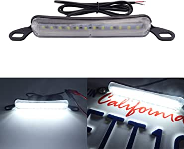 LivTee Extremely Bright License Plate Frame LED License Plate Lights Lamp, Xenon White(6000K)