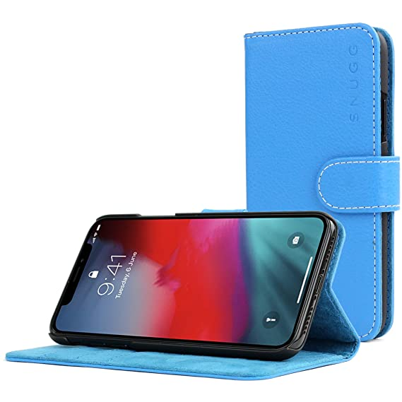 innovative design 6f1d2 ac8fc Snugg iPhone Xs (2018) / iPhone X (2017) Wallet Case – Leather Card Case  Wallet with Handy Stand Feature – Legacy Series Flip Phone Case Cover in ...