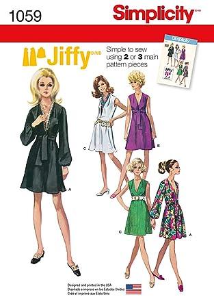Simplicity 1059 Größe H5 Schnittmuster Jiffy Kleid und Schärpe oder ...