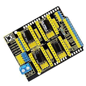 MagiDeal Impresora 3D Stepper Motor Driver CNC Shield V3.0 Junta para Arduino Nano