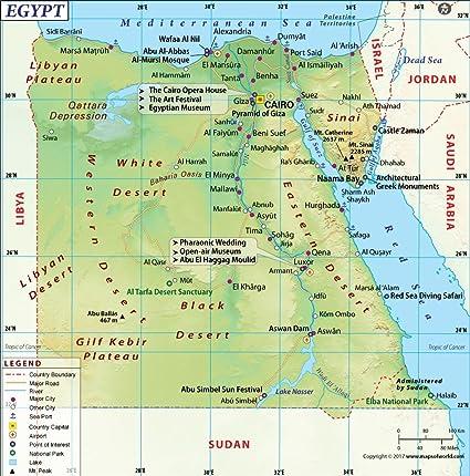 Cartina Egitto In Italiano.Egitto Mappa 91 4 Cm W X 92 5 Cm H Amazon It Cancelleria E Prodotti Per Ufficio