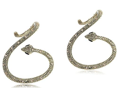e889b944f Amazon.com: Alilang Bronze Rhinestone Black Eye Snake Antique ...