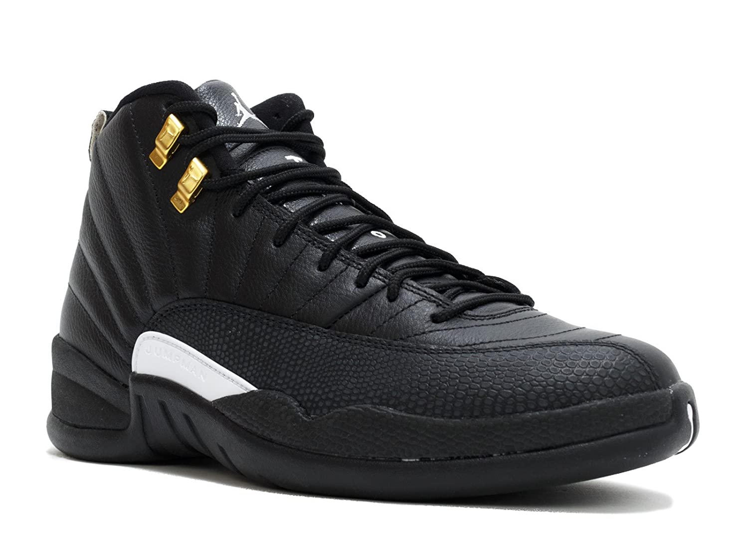 0d142de7297 Amazon.com | Jordan Men's Air 12 Retro, The Master-Black/White-Black-Metallic  Gold (18) | Basketball