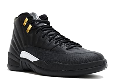 best website 0ebb8 39765 Image Unavailable. Image not available for. Color  Jordan Men s Air 12 Retro,  The Master-Black White-Black-Metallic