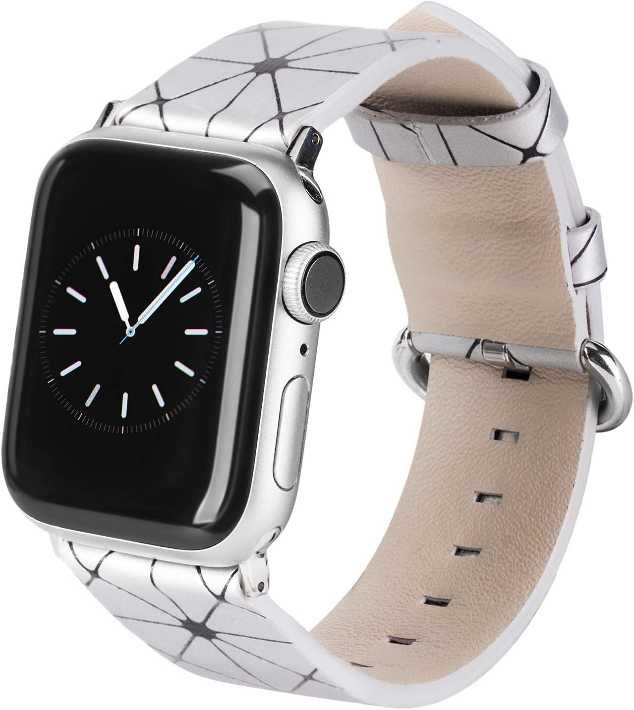 TOYOUTHS Compatible with Apple Watch Band 38mm Rose Gold iWatch Womens Mens 40mm Watchband Leisure Replacement Wristband Soft Leather Strap Bracelet Series 5 4 3 2 1
