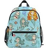 607e37b2de0 ZZKKO Cute Mermaid Princess Kids Backpack School Book Bag for Toddler Boys  Girls