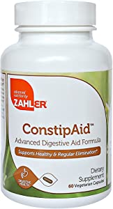 Zahler ConstipAid, Constipation Relief Supplement, Supports Healthy and Regular Elimination, Certified Kosher, 60 Capsules