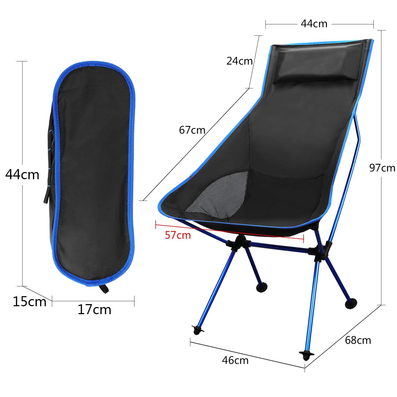 Chaise Pliante Ultra-l/ég/ère pour la p/êche en Pique-Nique KEESIN Chaise de Camping Portable Randonn/ée avec Sac /à Dos et Sac de Transport