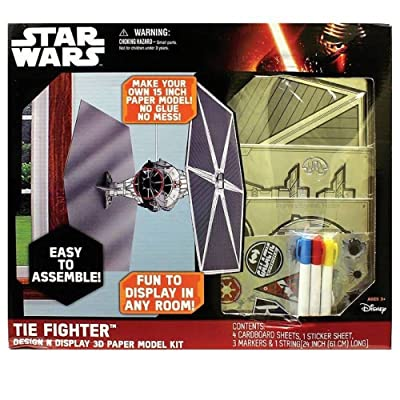 Disney Star Wars: Episode VII The Force Awakens Tie Fighter Design N Display 3D Paper Model Kit: Toys & Games