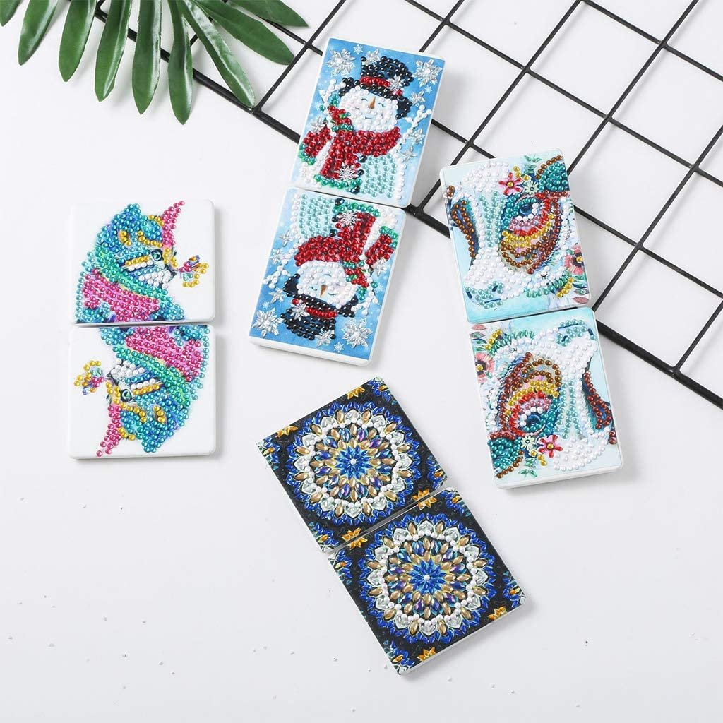 qingqingR Ultra-thin Make Mini Makeup Mirror Butterfly DIY Special Shaped Diamond Painting