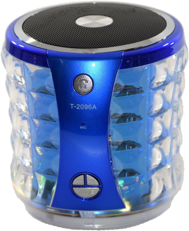 Electronics T-2020A Bluetooth Portable Mini Speaker Blue w//FM CardU-Disk Line-in