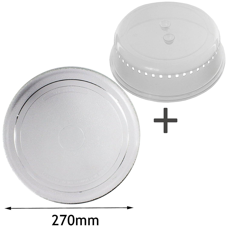 Spares2go Universal de 270 mm suave plana para plato giratorio del ...