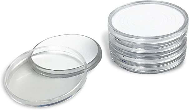 10pcs 25mm Applied Clear Round Cases Coin Storage Capsules Holder Plastic ODUS